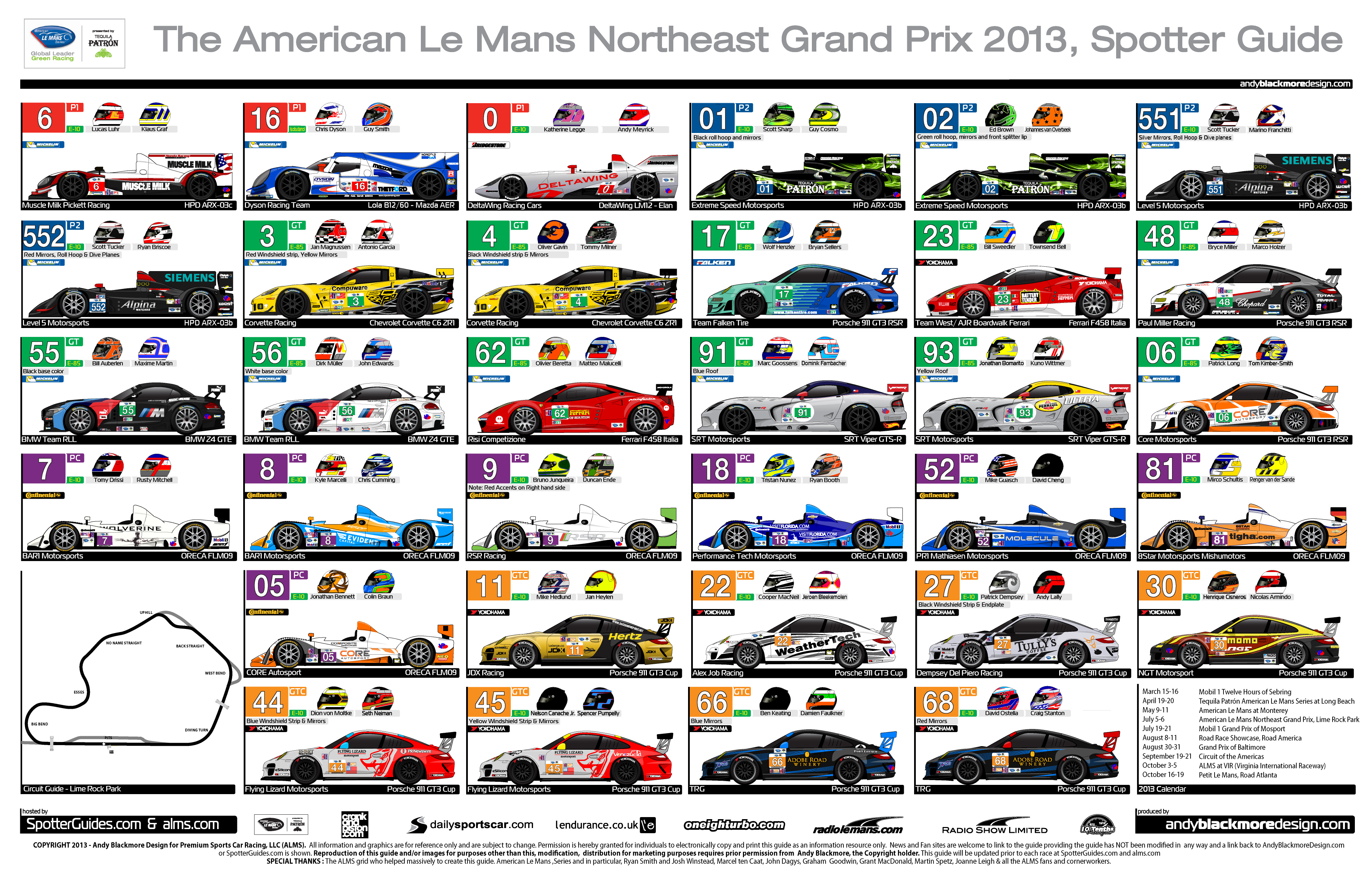 Audi Virginia Beach >> ALMS | Spotter Guides