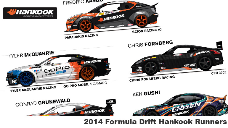 Hankook Tires Formula Drift Spotter Guide